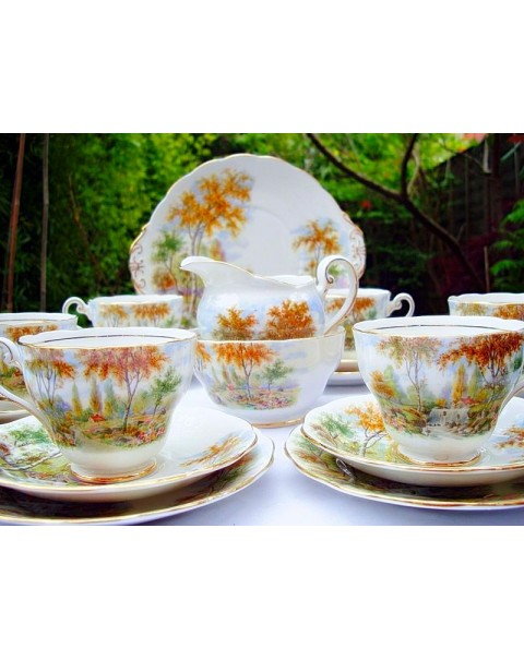 (OUT OF STOCK) ROYAL STANDARD THE OLD MILL STREAM  TEA SET